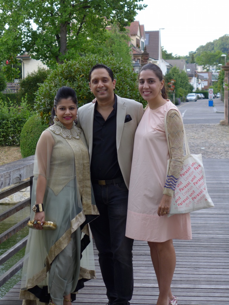 From left to right: Nadia Samdani and Rajeeb Samdani, Diana Campbell Betancourt