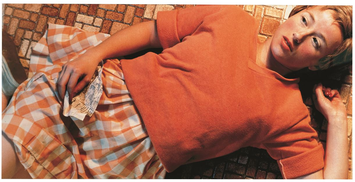 Cindy Sherman, Untitled #96, 1981. Color photograph 24 x 48 inches. © Cindy Sherman. Courtesy of the artist and Metro Pictures, New York UBS Art Collection
