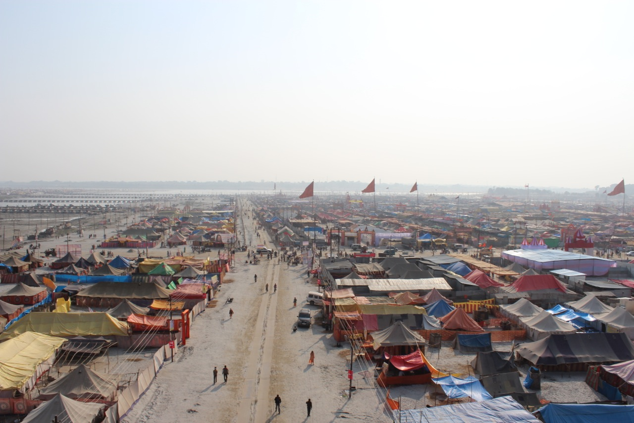 The Ephemeral Mega City of the Kumbh Mela in India  Image credit: Felipe Vera