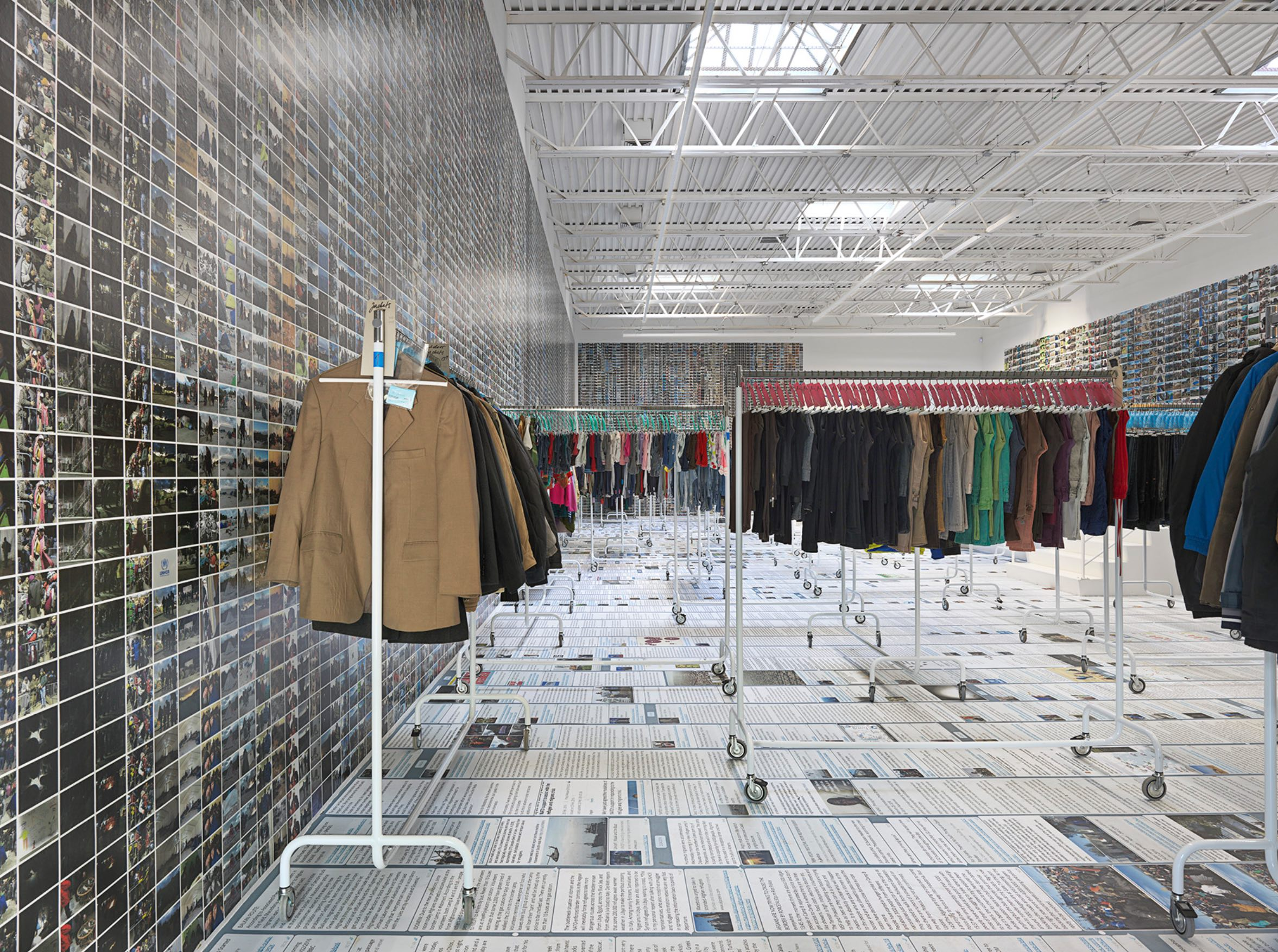Ai Weiwei, Laundromat, Installation View at Deitch Projects, Soho. 2016. Courtesy of the artist and the gallery.