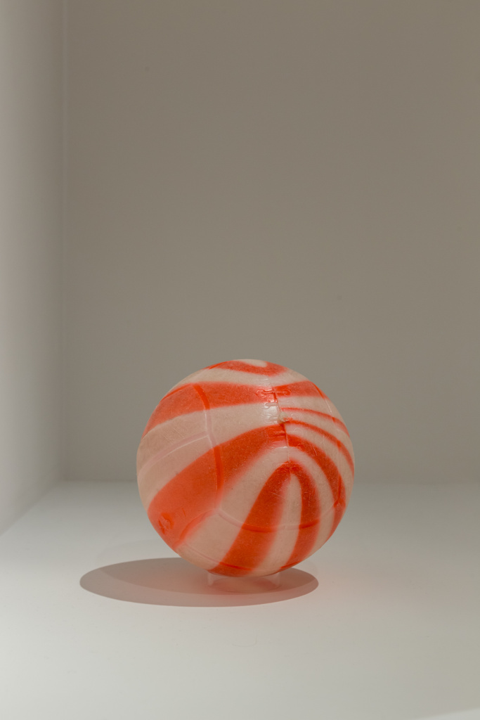 Exhibition View Attributed to Chiang Chen Watermelon ball designed circa 1959; made 1970s–80s Courtesy of M+, Hong Kong