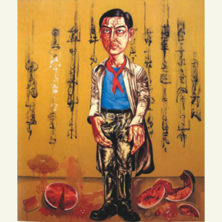 Zeng Fanzhi Self portrait
