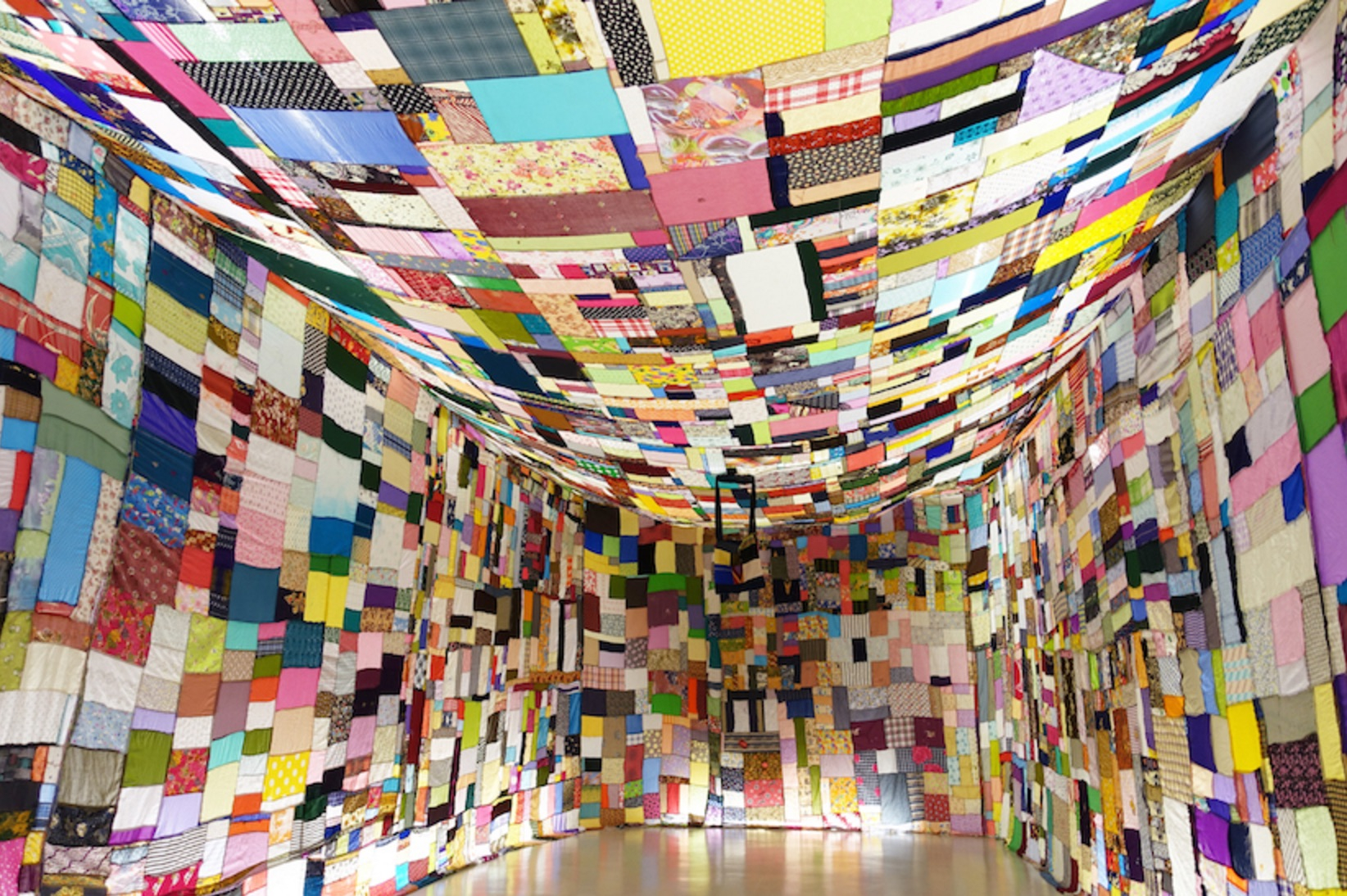 Htein Lin, Monument to My Mother, 2015, textile installation, dimensions variable